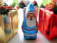 Free Blue Santa Royalty Free Stock Photos - 1596888
