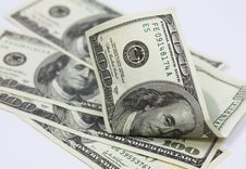 Free Several Banknotes In 100 US Do Royalty Free Stock Photos - 1597658