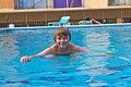 Free Boy Enjoys Swimming In The Pool Stock Photo - 15907530