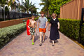 Free Mother With Two Sons On The Way To The Beach Royalty Free Stock Images - 15907579