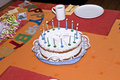 Free Birthday Cake At The Table Royalty Free Stock Photos - 15908338