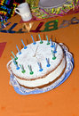 Free Birthday Cake At The Table Royalty Free Stock Photos - 15908448