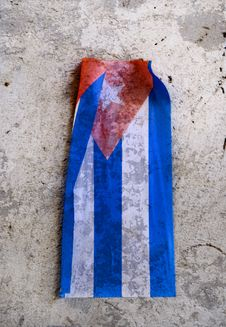 Free Cuban Flag Over Eroded Surface Royalty Free Stock Photo - 15900075