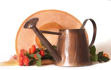 Free Watering Can For Flowers Roses Royalty Free Stock Image - 15900136