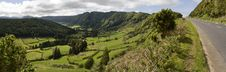 Free Green Valley Panorama Royalty Free Stock Photo - 15901145