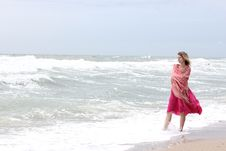 Free Woman Standing Near The Sea Stock Photos - 15901193