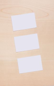 Free 3 Blank Buisness Card Wood Royalty Free Stock Photography - 15901967