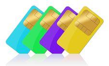Free Sim Card Set Stock Image - 15902291