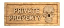 Free Private Property Wood Sign Stock Image - 15903891