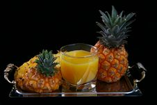Pineapple Juice With Pineapple Royalty Free Stock Photos