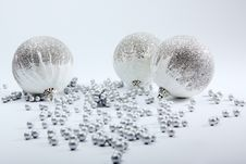 Silver Balls On White Royalty Free Stock Image