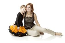Free Happy Mother With A Child On A White Background Stock Photography - 15904442