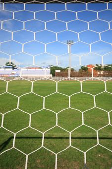 Behind A Goal Royalty Free Stock Photography