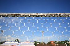Behind A Goal Stock Image