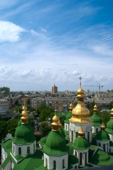 Free Gold Domes Of Saint Sophia Cathedral Royalty Free Stock Images - 15905909