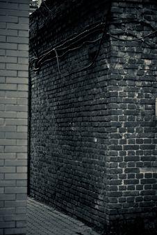 Brick Wall Path Royalty Free Stock Photography