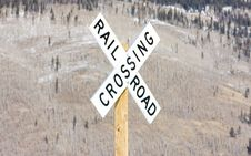 Free Railroad Crossing Royalty Free Stock Photo - 15906485