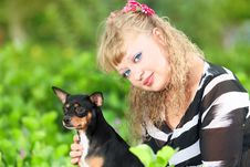 Free Woman And Dog Stock Photos - 15906623