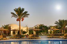 Free Egyptian Resort, Swimming Pool. Royalty Free Stock Images - 15906669