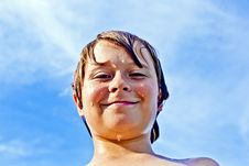 Free Boy Enjoys The Clear Water In The Ocean Royalty Free Stock Image - 15907356