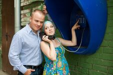 At Telephone Royalty Free Stock Photo