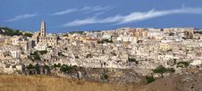 Overview Of The Sassi Di Matera Stock Photos