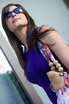 Free Beautiful Woman At A Shopping Center Royalty Free Stock Image - 15908116