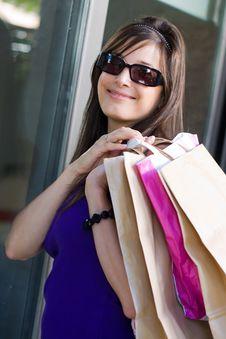 Free Beautiful Woman At A Shopping Center Stock Photo - 15908160