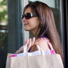 Free Beautiful Woman At A Shopping Center Stock Photos - 15908193