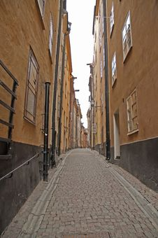Free Alleyway In Stockholm Stock Images - 15908294