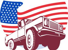Free American Pickup Truck Stars Stock Photography - 15908302