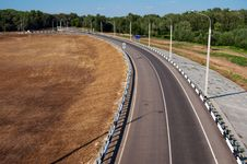 Empty Road Curve Royalty Free Stock Image