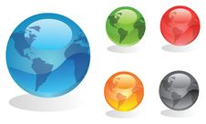 Free Set Of Globes Royalty Free Stock Photography - 15908417
