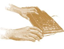 Free Golden Hands On The Keyboard Stock Photos - 15908613