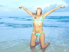 Free Woman At The Beach Stock Photo - 15908930