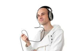 Free Young Man Listening To Music Stock Photography - 15908932