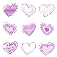 Free Heart Set Stock Image - 15909401