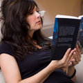 Free Beautiful Woman Reading A Book Stock Image - 15910361