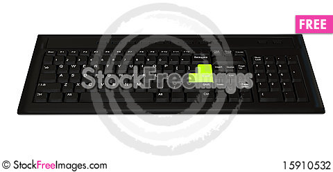Free Computer Keyboard Over White Background Stock Photography - 15910532