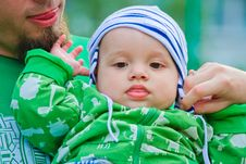 Child Wiht Father Royalty Free Stock Photography
