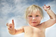 Free Funny Child Portrait Royalty Free Stock Image - 15910246