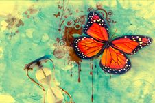 Background With Butterfly Stock Images