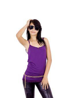 Teenage Girl Looking Cool Royalty Free Stock Image