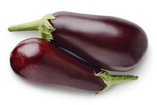 Free Isolated Eggplants And Onions Stock Photo - 15912350
