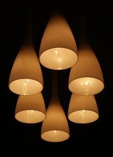 Modern Living-room Lamp Royalty Free Stock Photography