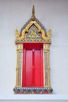 Free Thai Style Window Royalty Free Stock Photo - 15913095