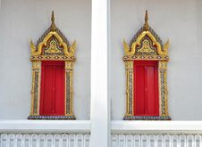 Free Twin Thai Style Windows Stock Images - 15913174