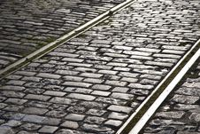 Free Tram Tracks Royalty Free Stock Photo - 15913475