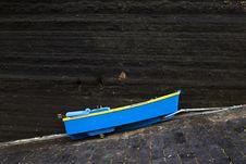 Small Blue Boat Stock Photo