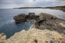 Free Wide Sea Gloomy Landscape Royalty Free Stock Photo - 15915915